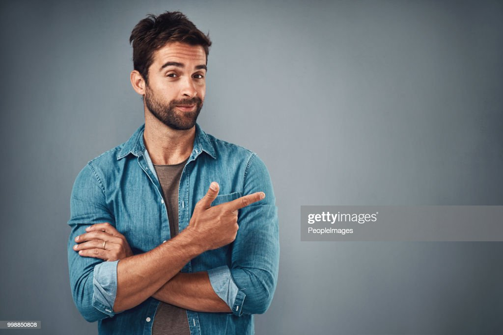 Direct your attention over here... : Stock Photo
