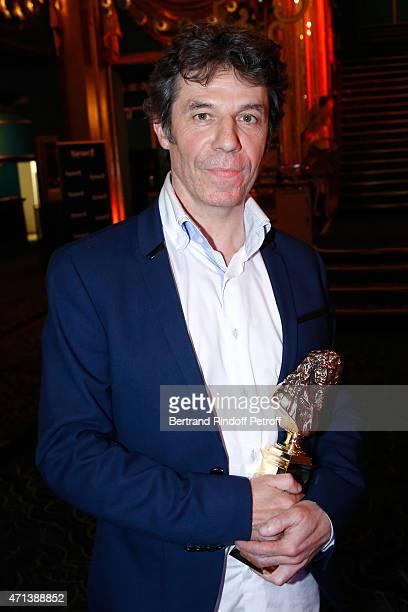 Directeur of 'Des ges intelligents' winner of the 'Moliere de la Comedie' Marc fayet attends the 27th 'Nuit Des Molieres' 2015 Held at Folies Bergere...