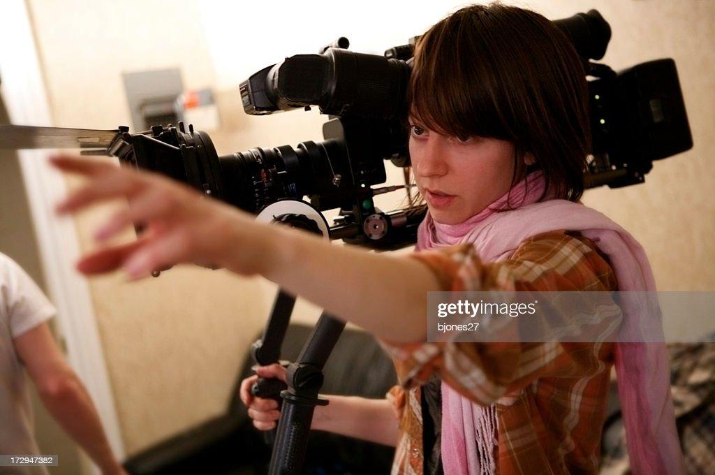 Directing the Shot : Stock Photo
