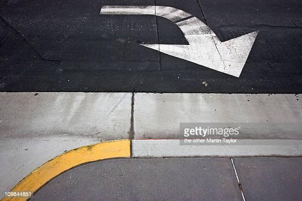 Direction Arrow & Curb