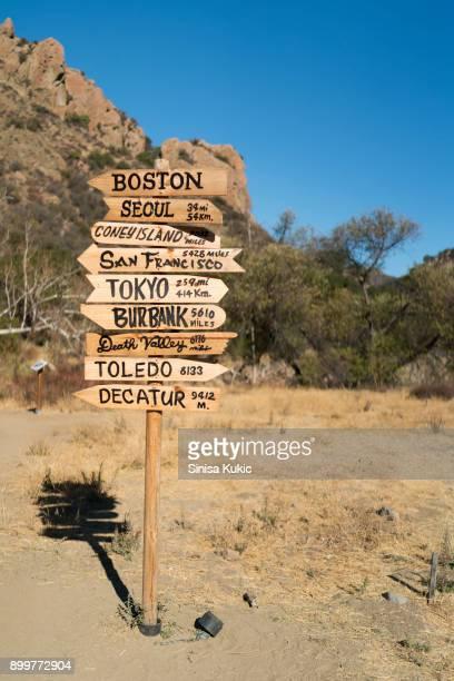 MASH Direction Sign
