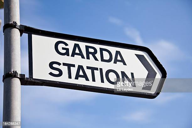 Direction sign to a Garda Station, Ireland (police)