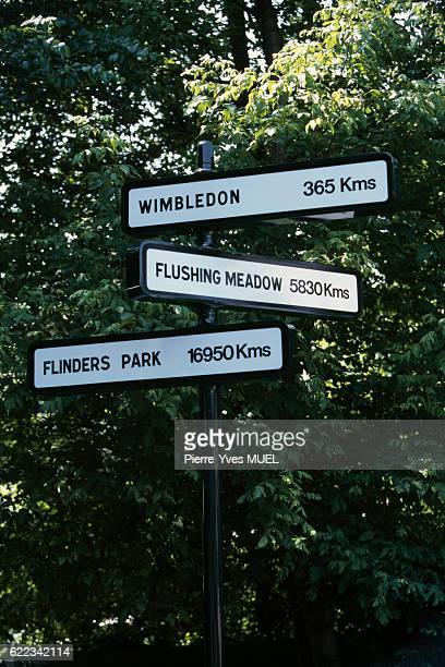 Direction signs for the others grand chelem tournaments in Roland Garros stadium