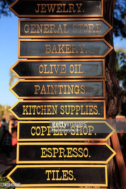 direction signs in old town of san diego - old town san diego stock pictures, royalty-free photos & images