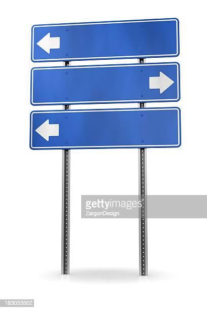 seta de direção - placa de estrada - fotografias e filmes do acervo
