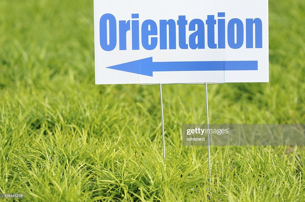 Directional orientation sign : Stock Photo
