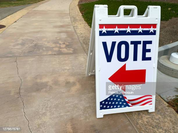 """""""vote"""" directional sign - ballot slip stock pictures, royalty-free photos & images"""
