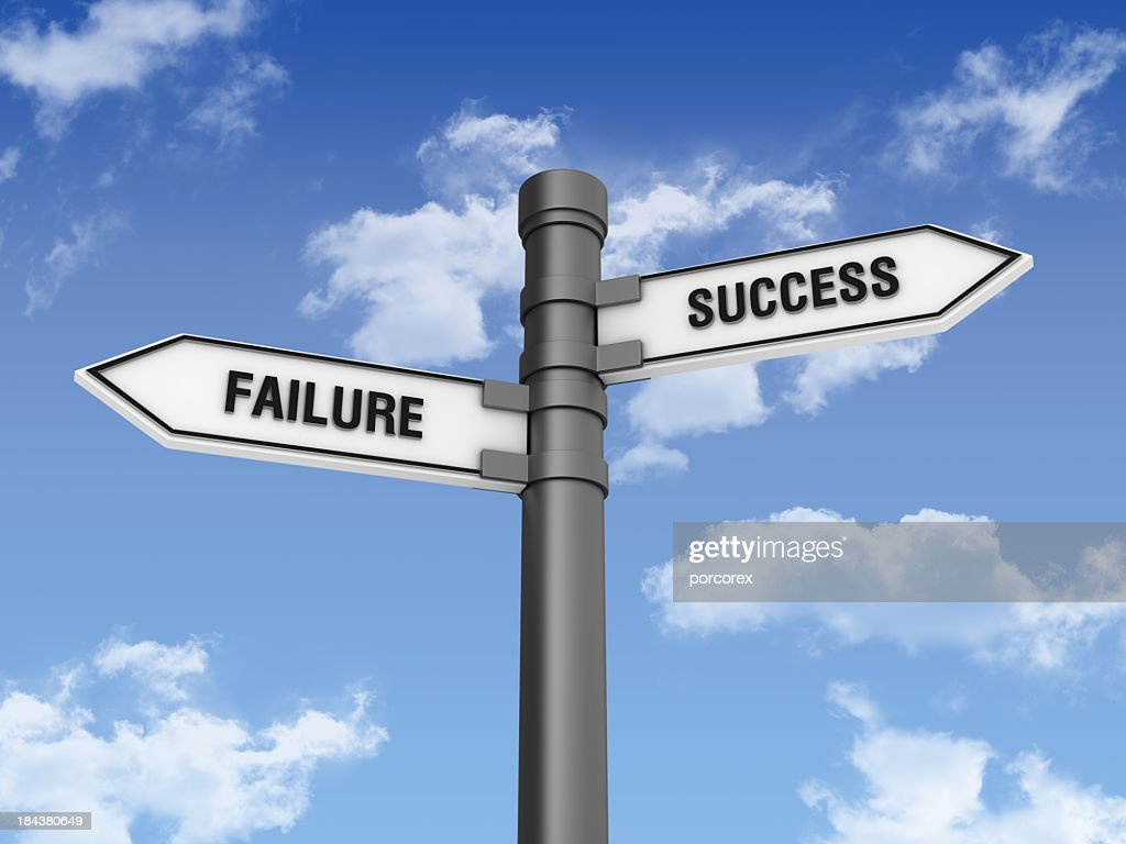 Directional Sign with Sucess Failure Words : Stock Photo