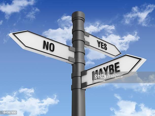 方向標識にはいいいえ言葉があるかもしれない。