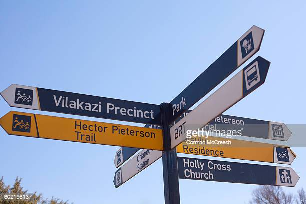 Directional signpost in Soweto