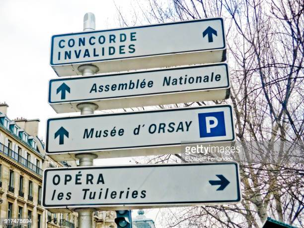 Directions road sign