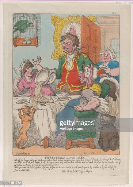 Directions to Footmen November 10 1807 Artist Thomas Rowlandson