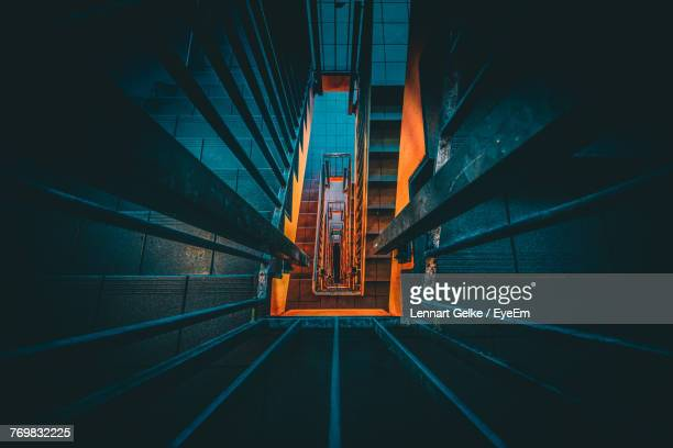 directly above of spiral staircase - bielefeld stock pictures, royalty-free photos & images