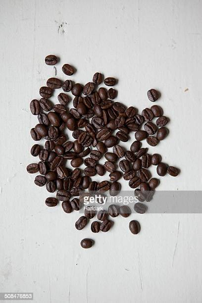 Directly above shot coffee beans