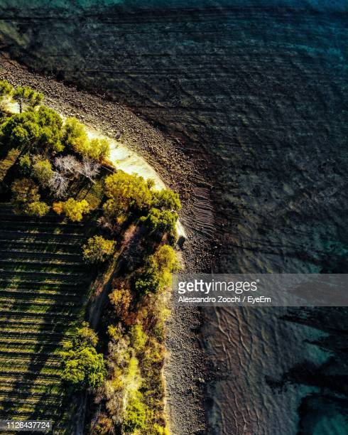 directly above shot of beach - koper stock photos and pictures