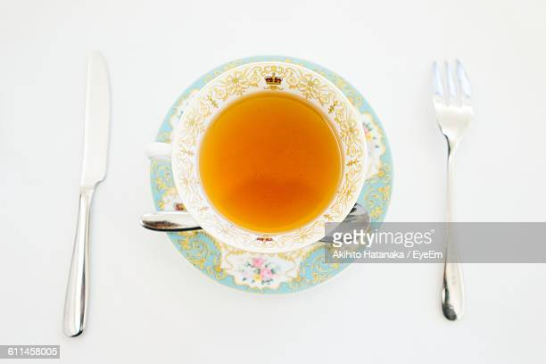 Directly Above Shot Of British Tea On Table