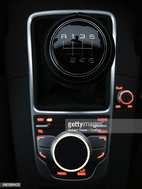 Directly Above Shot Of Car Gearshift