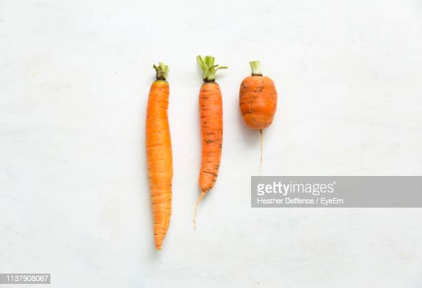 directly above shot of carrots on white background - carrot stock pictures, royalty-free photos & images