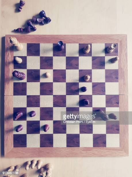 Directly Above Shot Of Chess Board