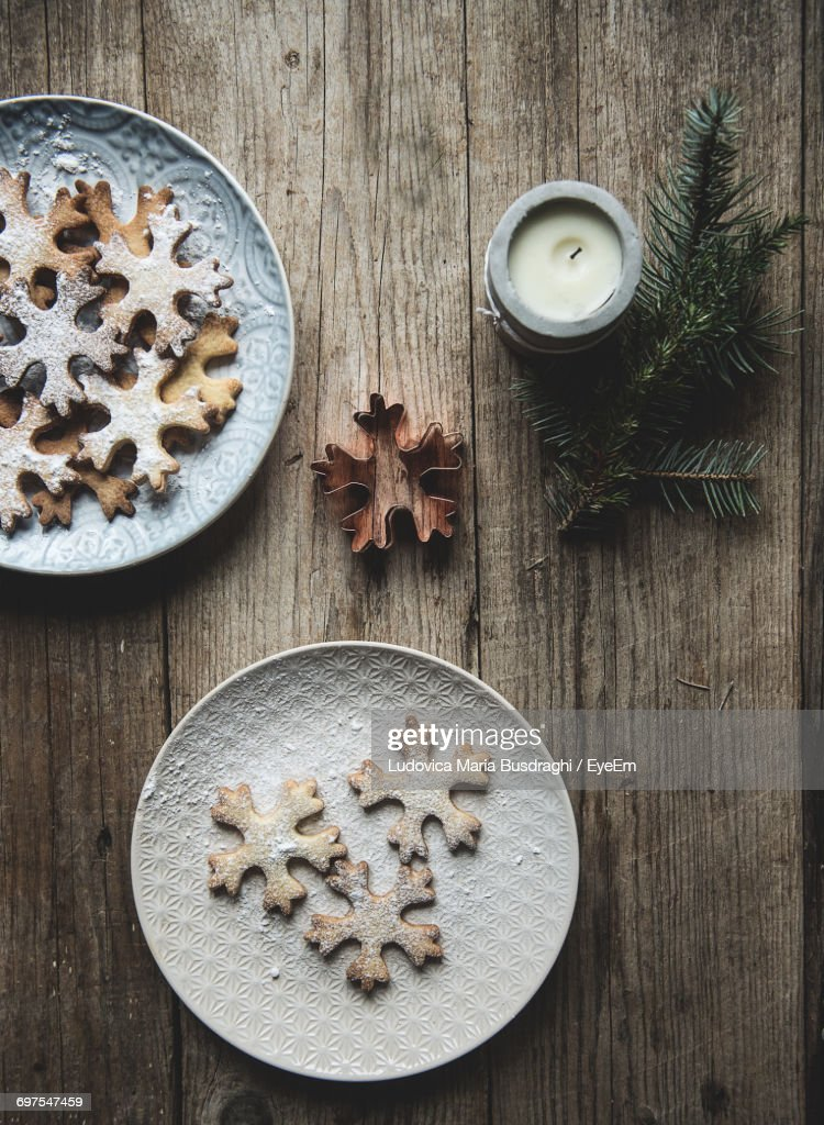 Directly Above Shot Of Christmas Cookies : Stock Photo