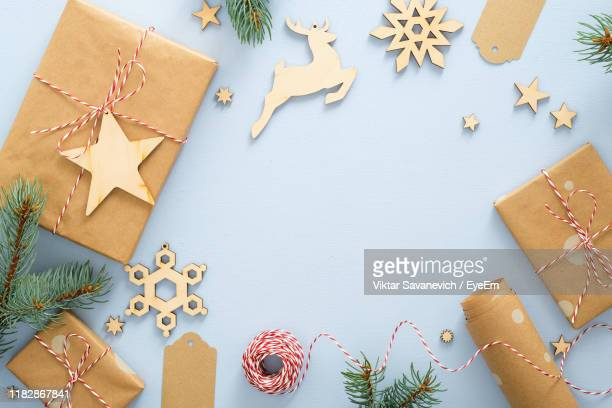 directly above shot of christmas decoration - stars and strings 2019 stock photos and pictures