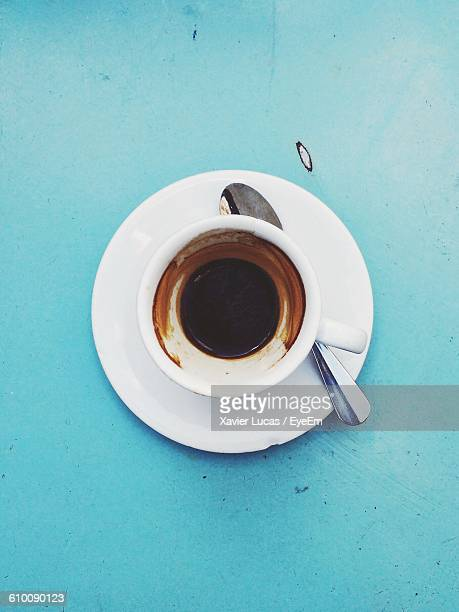 Directly Above Shot Of Coffee Cup On Table