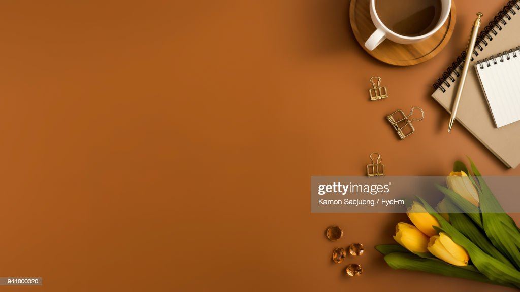 Directly Above Shot Of Drink On Table : Stock Photo