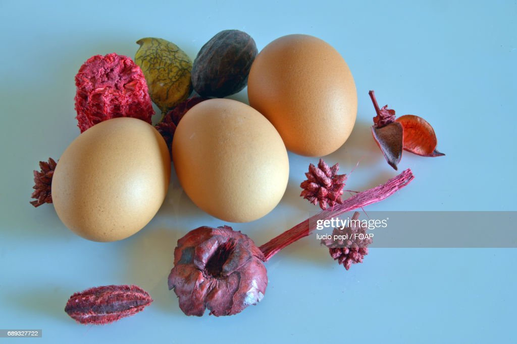 Directly above shot of eggs : Stock Photo
