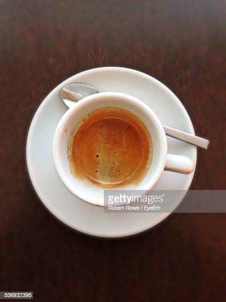Directly Above Shot Of Espresso In Cup On Table
