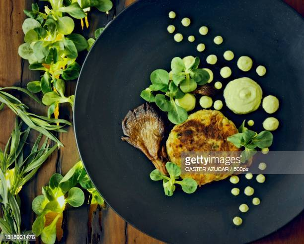 directly above shot of food in plate on table,london,united kingdom,uk - beauty stock pictures, royalty-free photos & images
