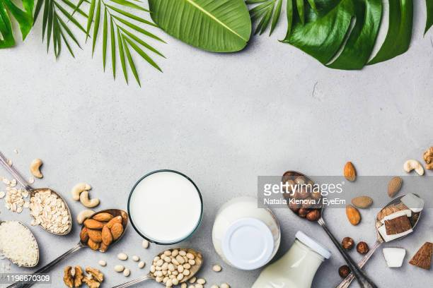 directly above shot of food on table - nut food stock pictures, royalty-free photos & images