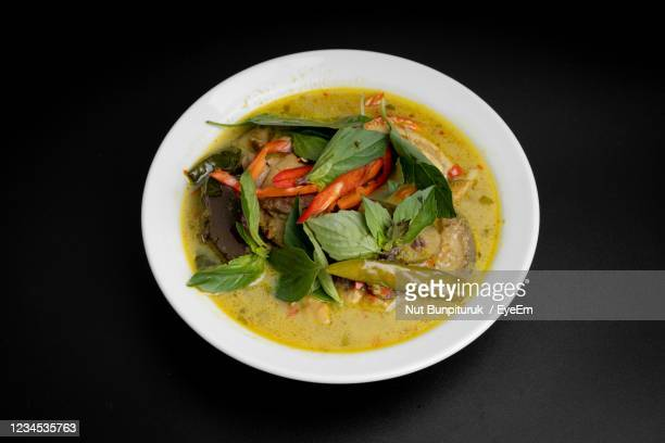 directly above shot of food served on table - thailand stock pictures, royalty-free photos & images