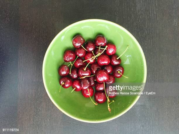 Directly Above Shot Of Fruits In Bowl On Table