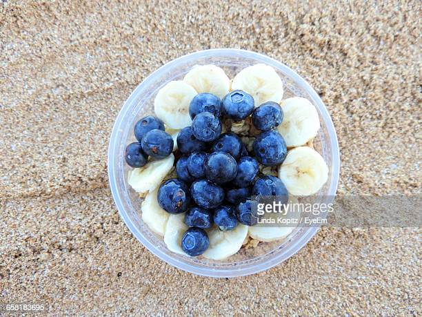 directly above shot of fruits in bowl - haleiwa - fotografias e filmes do acervo