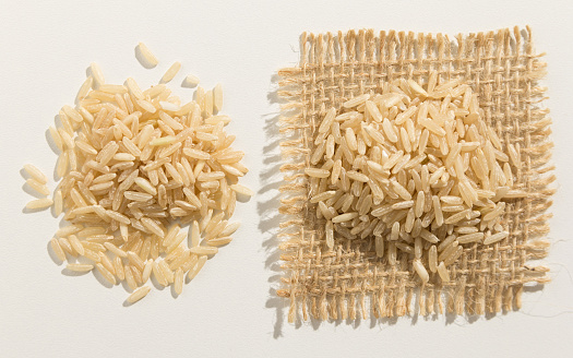 Directly Above Shot Of Grains Over White Background - gettyimageskorea