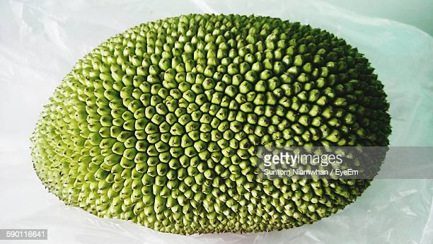 directly above shot of jackfruit on paper - jackfruit stock photos and pictures