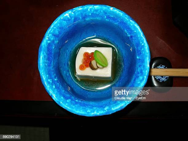 Directly Above Shot Of Japanese Food Served In Plate