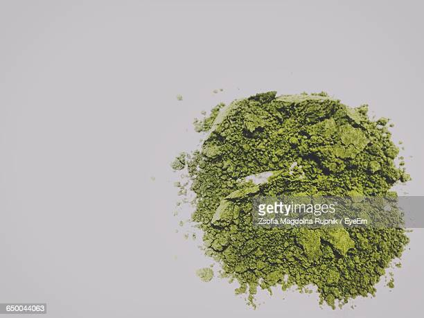 Directly Above Shot Of Matcha On Table