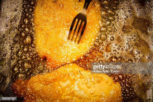 directly above shot of milanese with fork - fried stock pictures, royalty-free photos & images