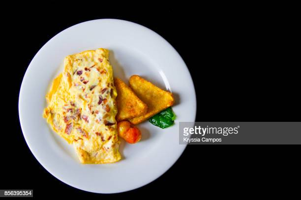Directly Above Shot Of Omelet