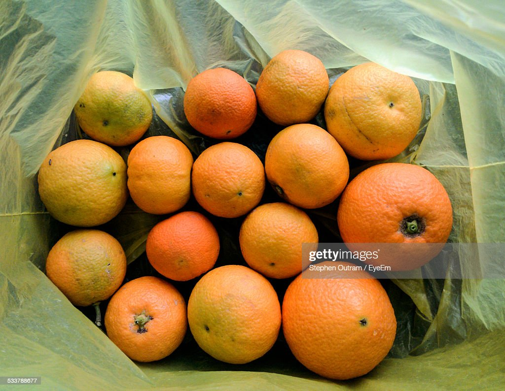 Directly Above Shot Of Oranges : Foto stock