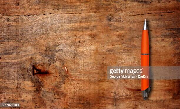 directly above shot of pen on table - george wood stock pictures, royalty-free photos & images