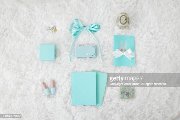 directly above shot of personal accessories on rug - mint green stock pictures, royalty-free photos & images