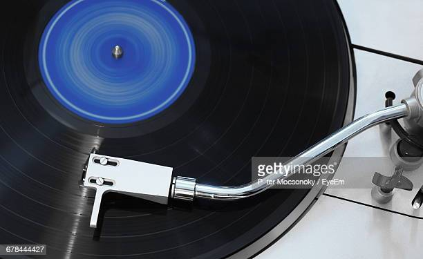 Directly Above Shot Of Record Player