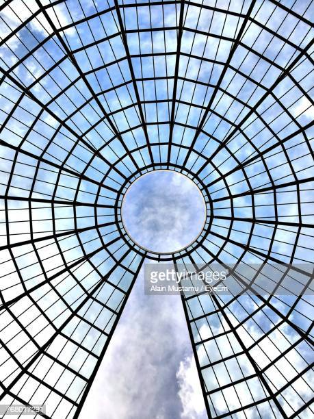 directly above shot of skylight - architectural dome stock pictures, royalty-free photos & images