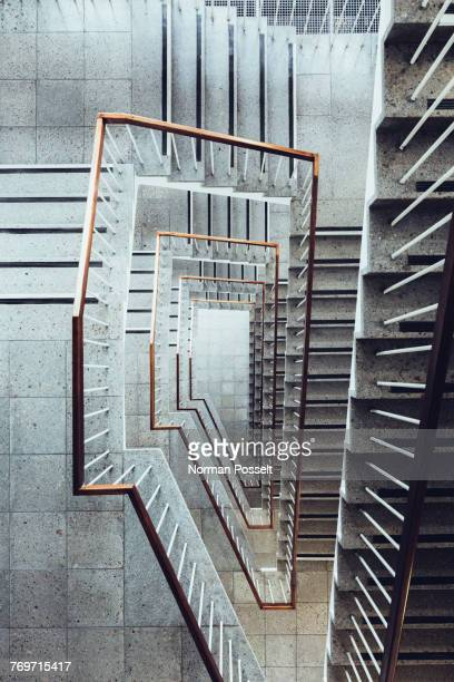 directly above shot of staircase - architektonisches detail stock-fotos und bilder