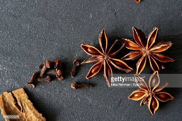 Directly Above Shot Of Star Anise On Textured Surface