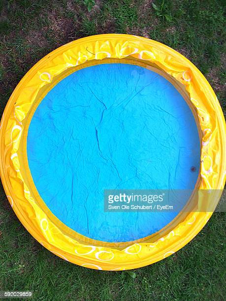 Directly Above Shot Of Swimming Pool On Field