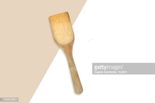Directly Above Shot Of Wooden Spatula On Table