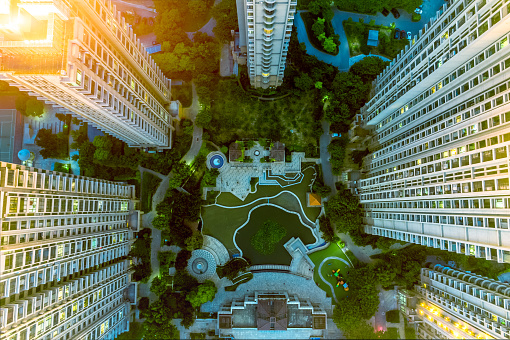 Directly above the residential building - gettyimageskorea